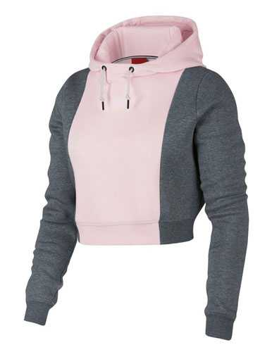 Duo Colour Crop Hoodies